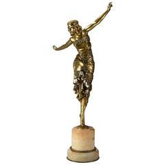 Art Deco Bronze Figure 'Russian Dancer' by Paul Philippe
