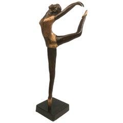 Art Deco Bronze Figurine Ballerina E. Yontunc