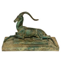 "Art Deco Bronze Gazelle Maquette from ""Seduction"", by Pierre Le Faguays"