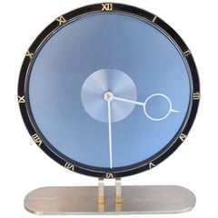 Art Deco Bronze & Glass Clock by Kienzle, Circa 1935, Germany