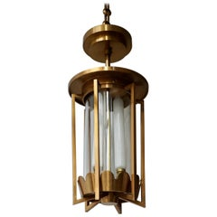 Art Deco Bronze Lantern