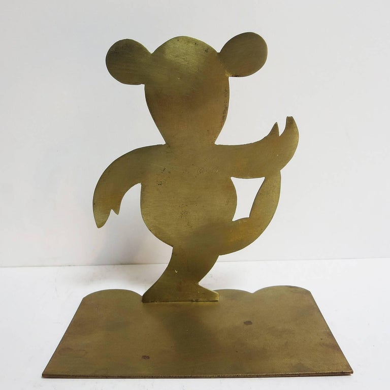 Art Deco Bronze Mouse Bookends Attributed to Hagenauer In Excellent Condition For Sale In Los Angeles, CA