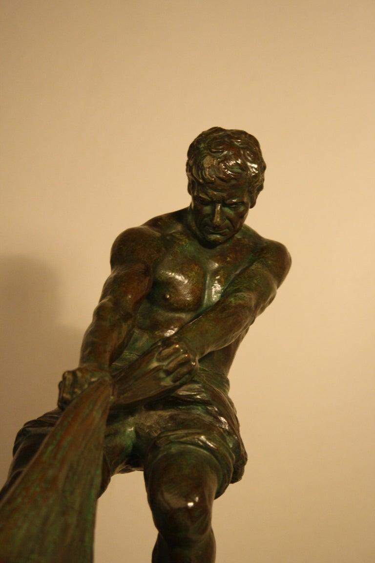 Art Deco Bronze Sculpture by Alexandre Ouline, France, 1930s For Sale 5