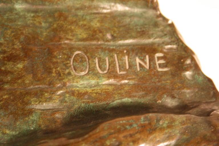 Art Deco Bronze Sculpture by Alexandre Ouline, France, 1930s For Sale 6