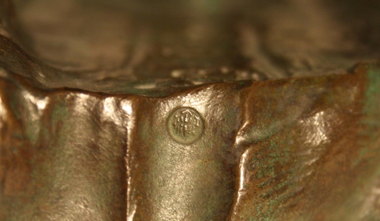 Art Deco Bronze Sculpture by Alexandre Ouline, France, 1930s For Sale 7