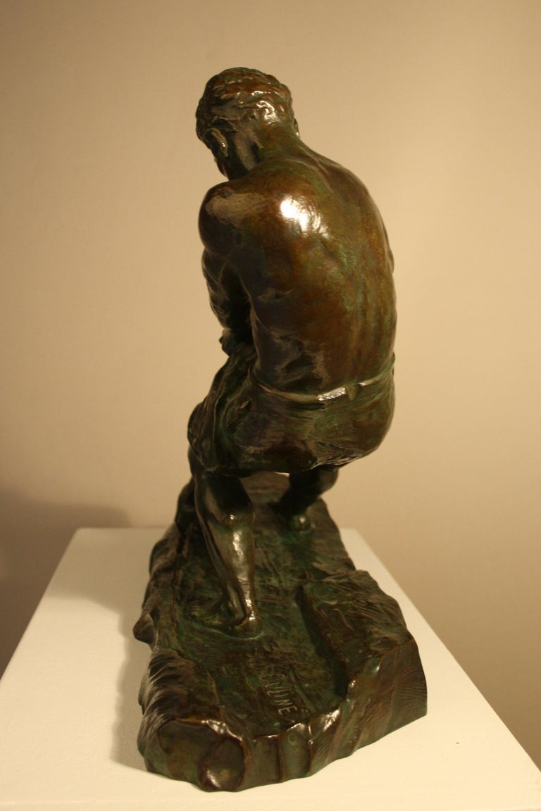 Art Deco Bronze Sculpture by Alexandre Ouline, France, 1930s In Good Condition For Sale In Belgium, BE