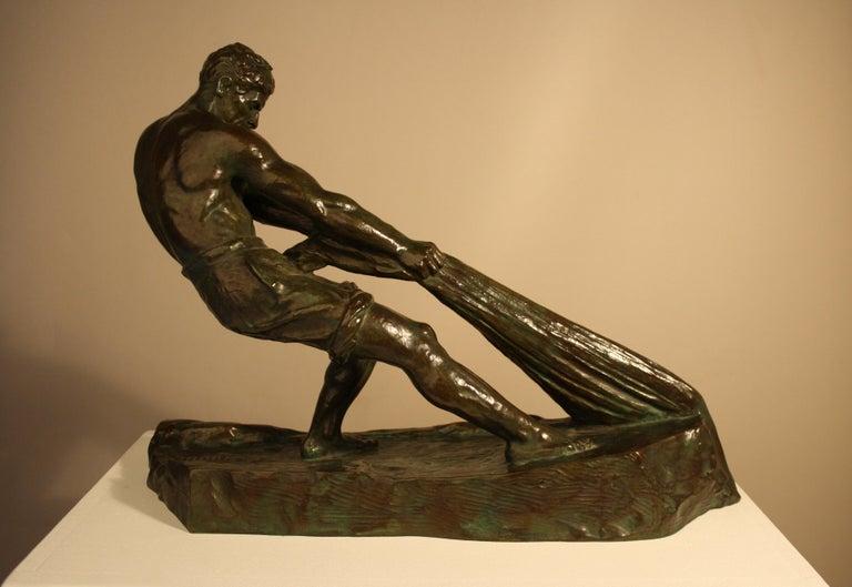 Art Deco Bronze Sculpture by Alexandre Ouline, France, 1930s For Sale 1
