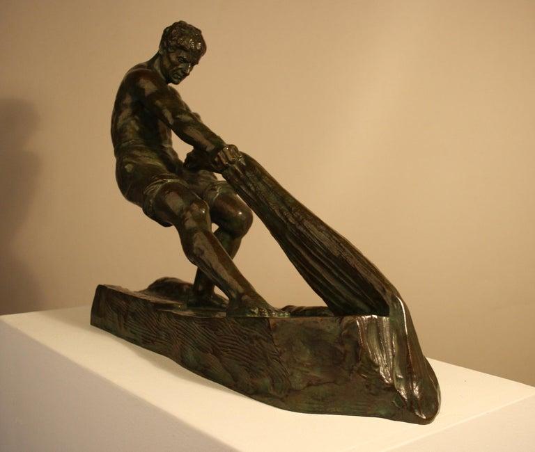 Art Deco Bronze Sculpture by Alexandre Ouline, France, 1930s For Sale 2