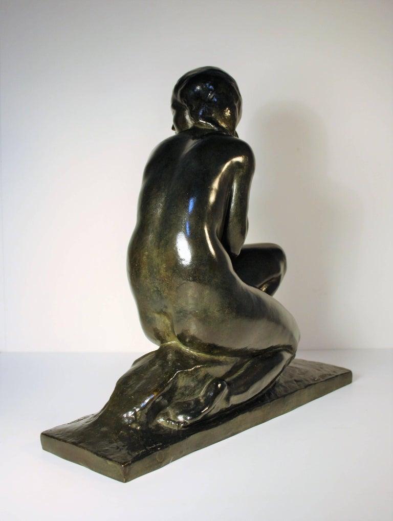 Art-Déco Bronzeskulptur von Jean Ortis, 1930 7