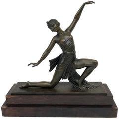"""Art Déco Bronze Sculpture """"Dancer"""", Paris, 1920s"""