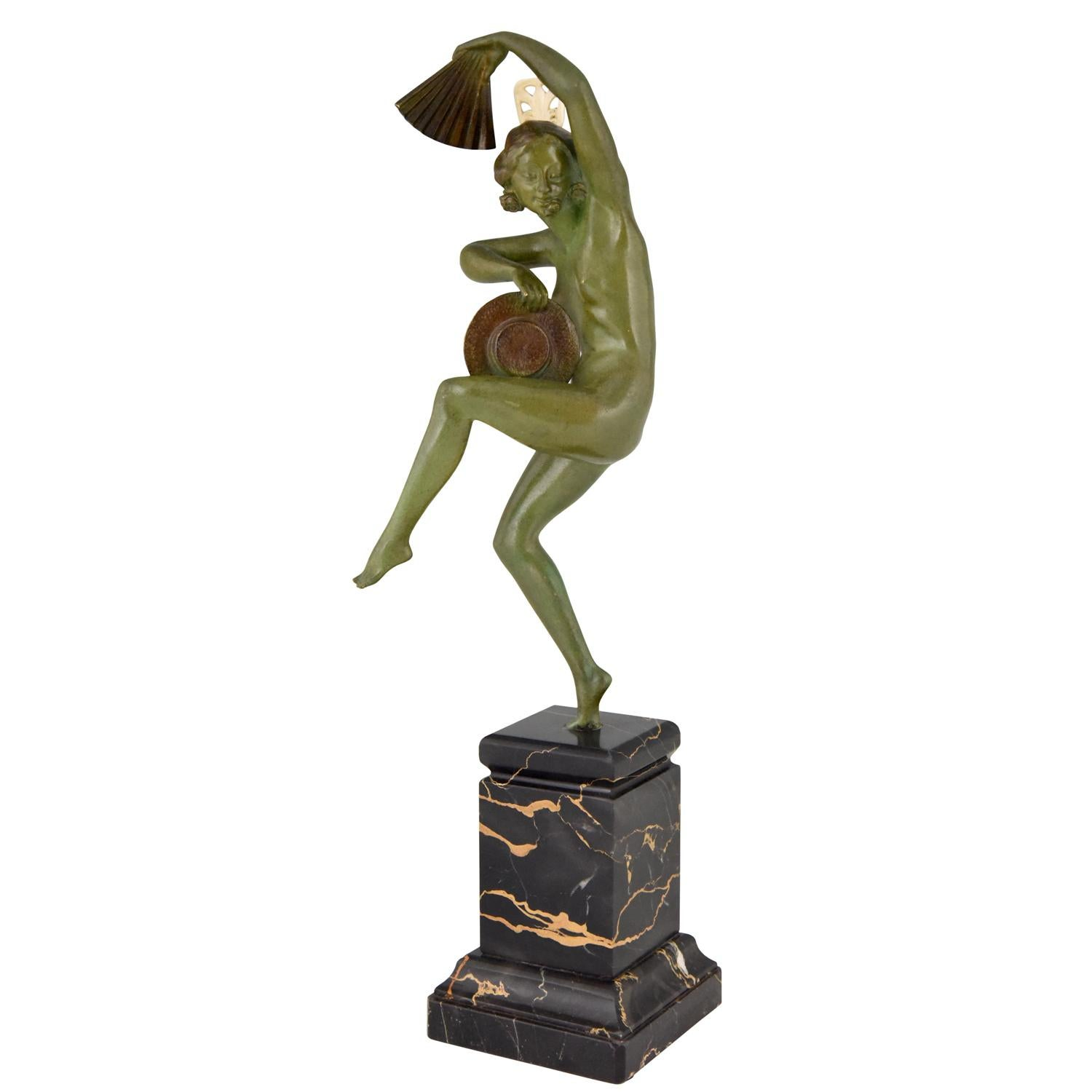 Art Nouveau Bronze Sculpture of a Dancing Nude by Joseph Zomers, 1915 For  Sale at 1stdibs