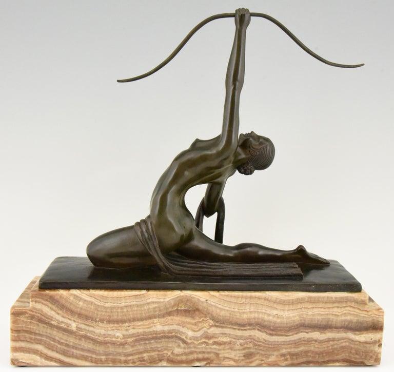Amazone Art Deco Bronze Sculpture Female Nude Warrior