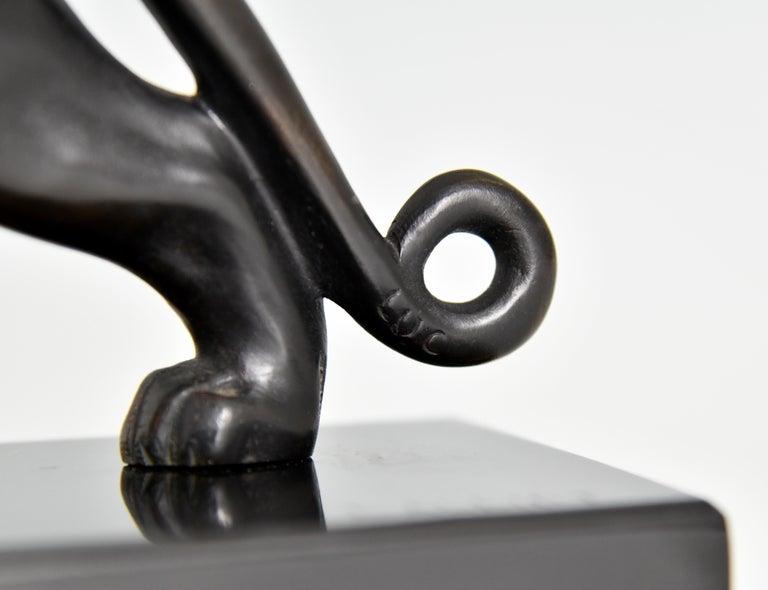 Art Deco Bronze Sculpture of a Panther Lucien Alliot, France, 1925 For Sale 5
