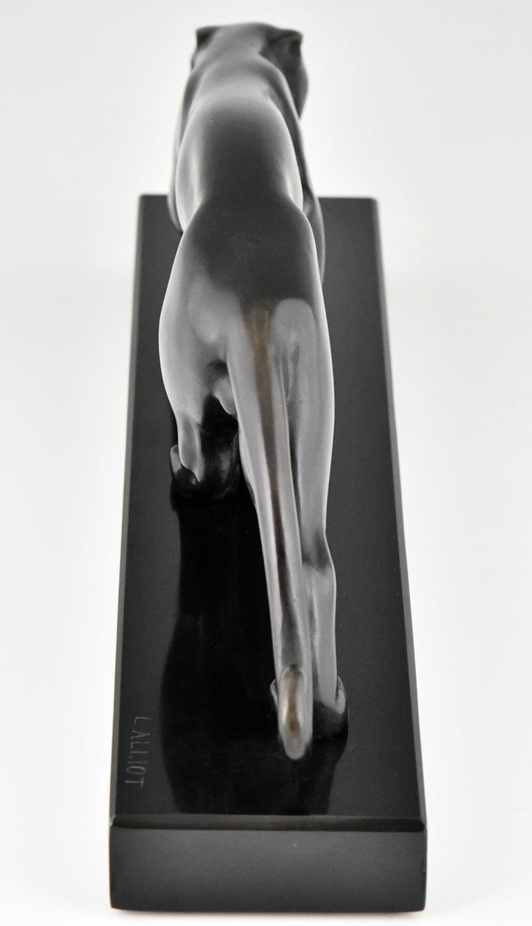 Art Deco Bronze Sculpture of a Panther Lucien Alliot, France, 1925 For Sale 2