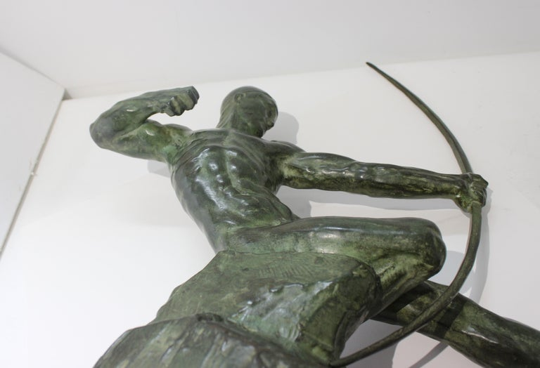 Art Deco Bronze Sculpture of an Archer by Victor Demanet  For Sale 6