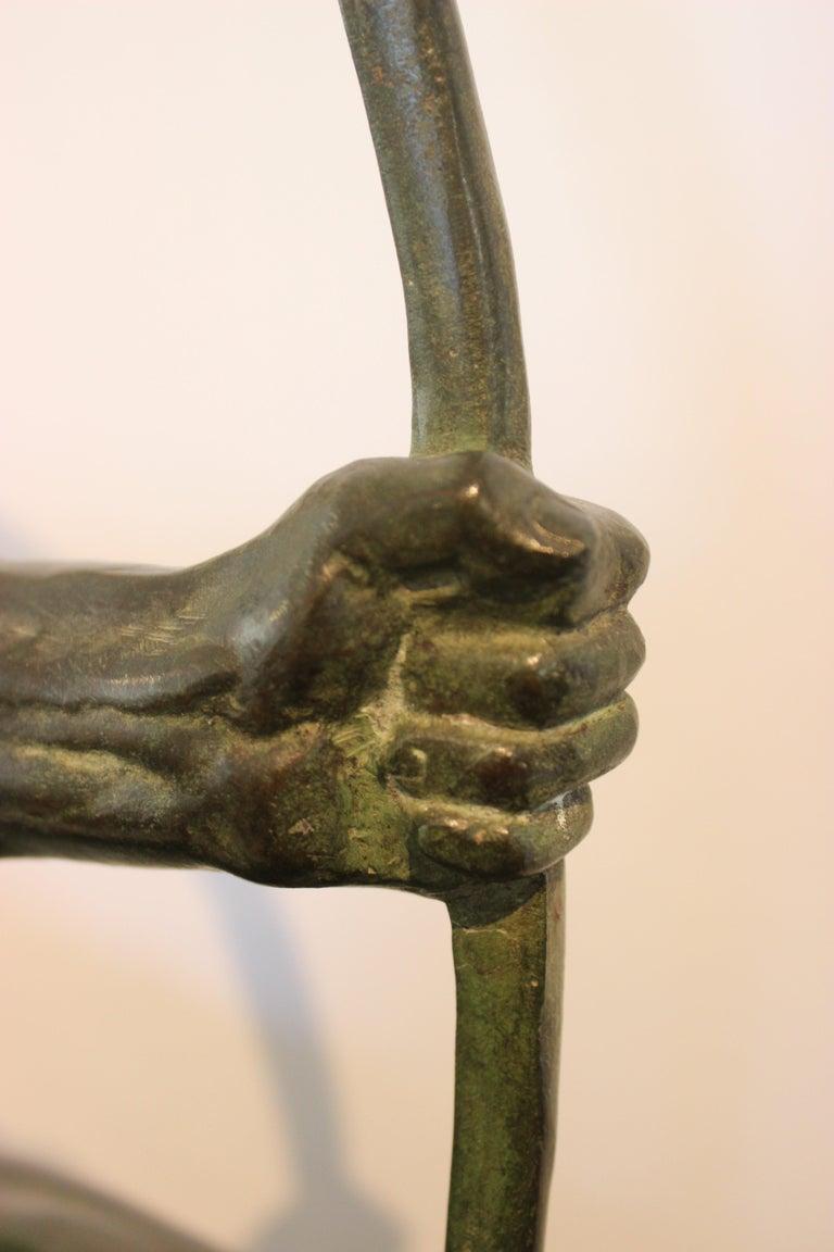 Art Deco Bronze Sculpture of an Archer by Victor Demanet  For Sale 7