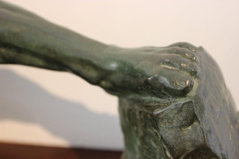 Art Deco Bronze Sculpture of an Archer by Victor Demanet  For Sale 8
