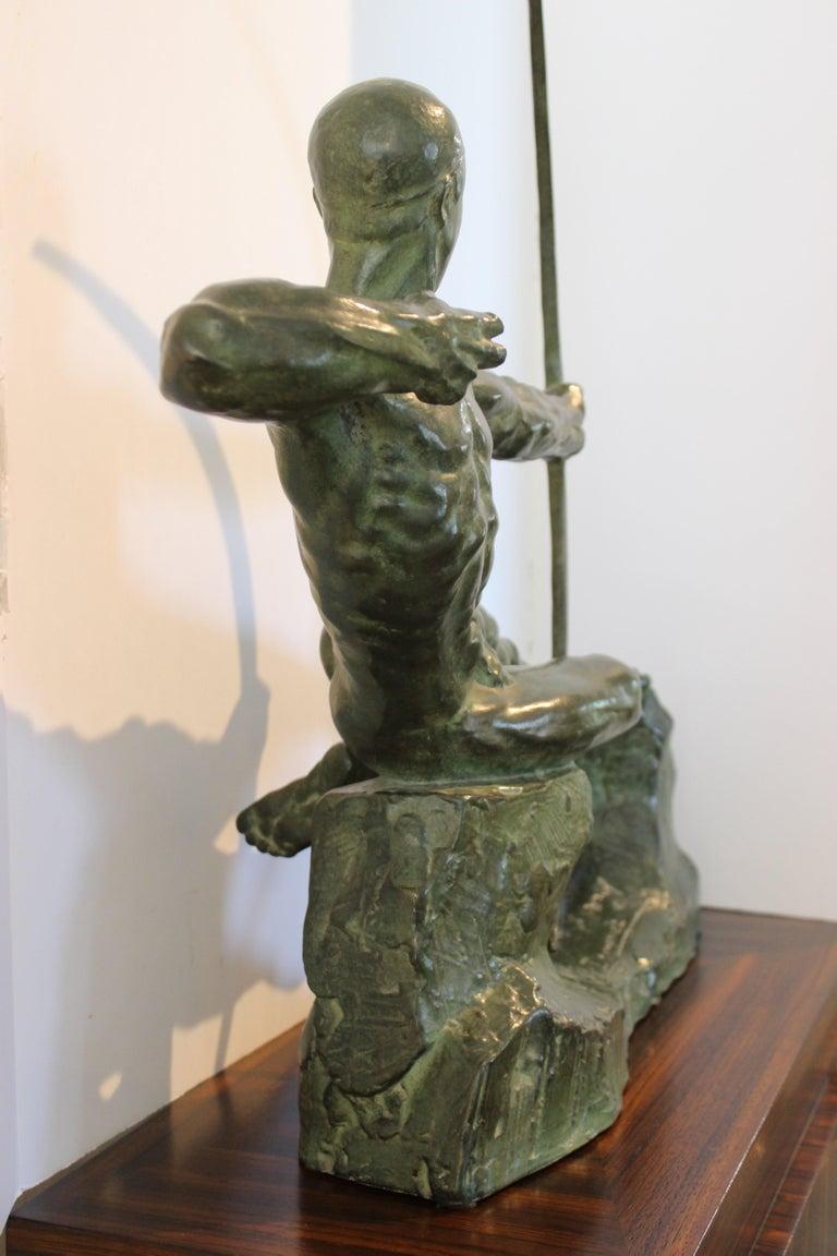 Art Deco Bronze Sculpture of an Archer by Victor Demanet  For Sale 9