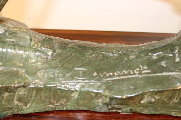 Art Deco Bronze Sculpture of an Archer by Victor Demanet  For Sale 11