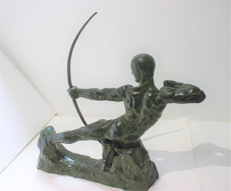 20th Century Art Deco Bronze Sculpture of an Archer by Victor Demanet  For Sale
