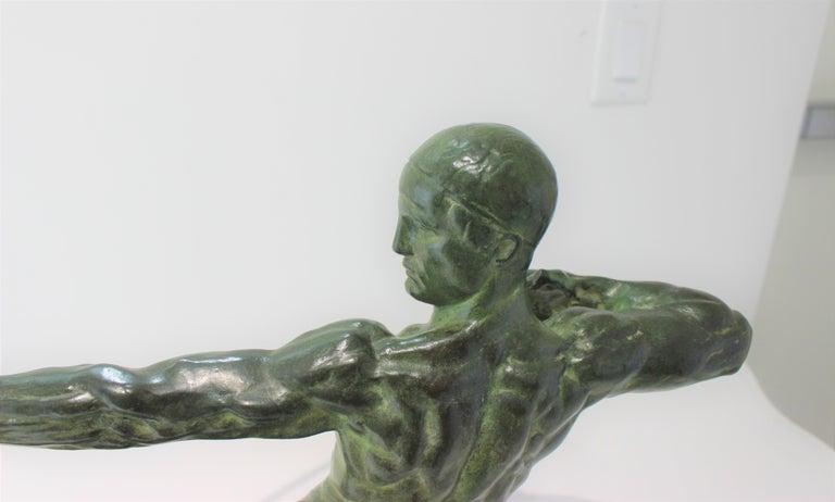 Art Deco Bronze Sculpture of an Archer by Victor Demanet  For Sale 2