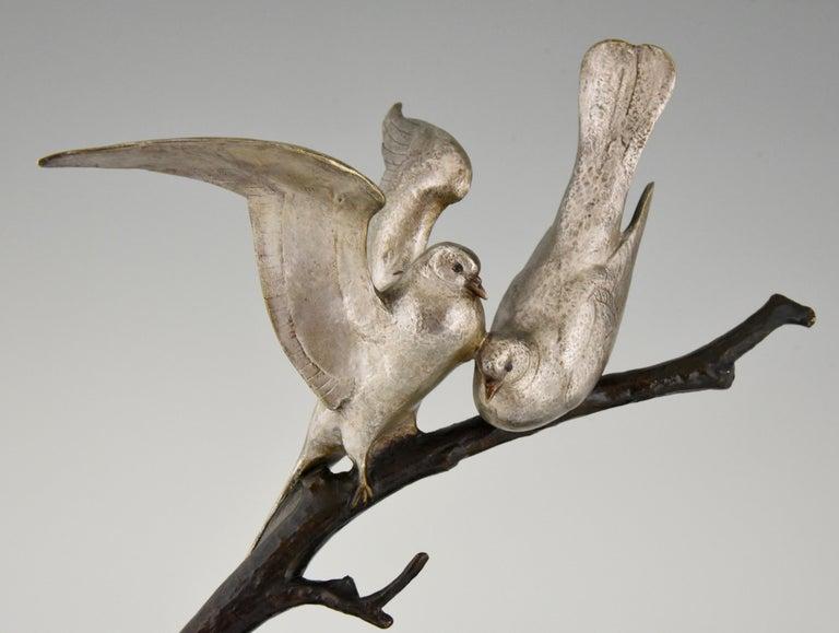 Art Deco Bronze Sculpture of Two Birds Andre Vincent Becquerel, 1925, France 5