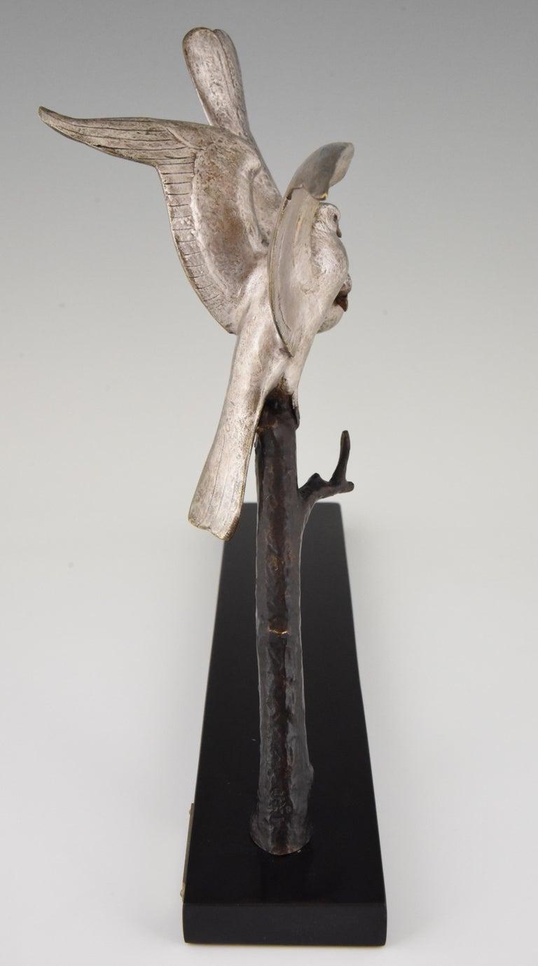 Art Deco Bronze Sculpture of Two Birds Andre Vincent Becquerel, 1925, France In Good Condition In Antwerp, BE