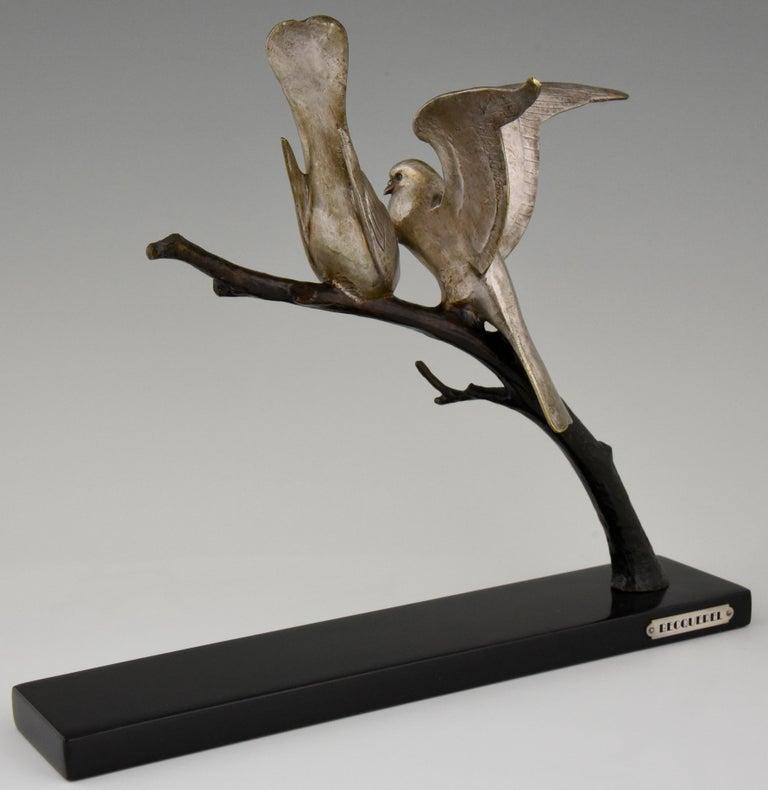 Art Deco Bronze Sculpture of Two Birds Andre Vincent Becquerel, 1925, France 2