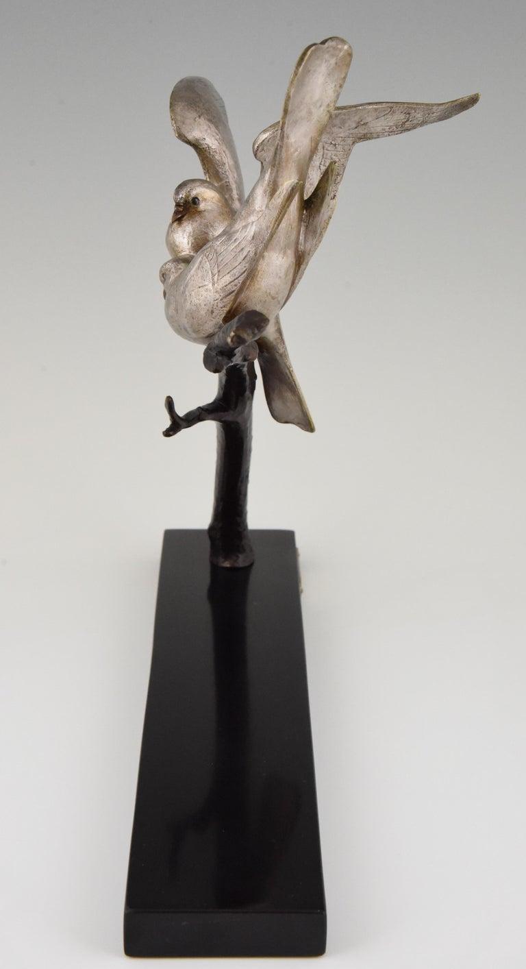 Art Deco Bronze Sculpture of Two Birds Andre Vincent Becquerel, 1925, France 3