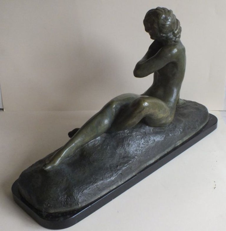 Art Deco Bronze Statue, France 1930s Classic Nude by Cipriani For Sale 1