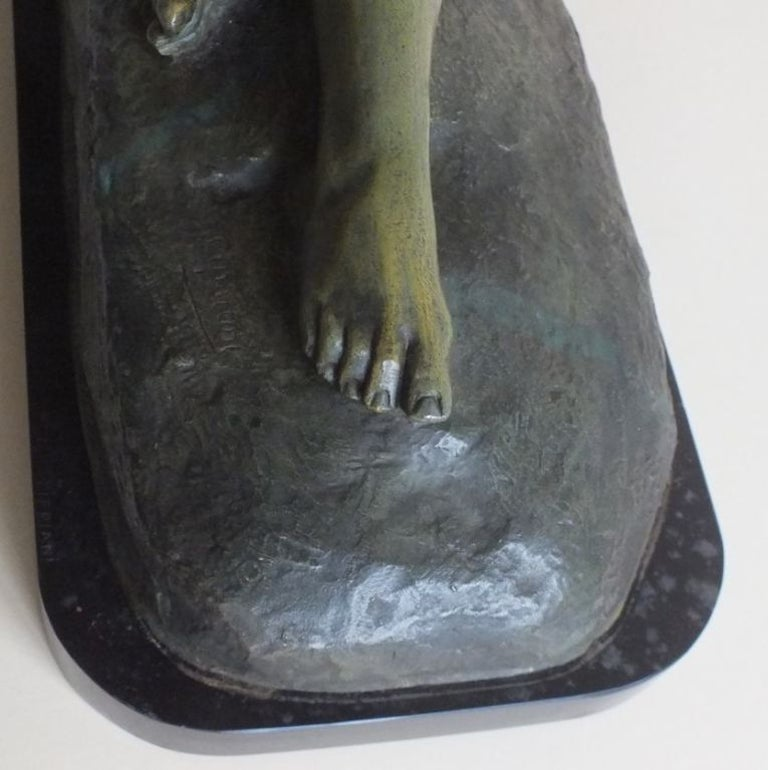 Art Deco Bronze Statue, France 1930s Classic Nude by Cipriani For Sale 2