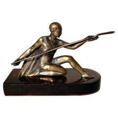 Art Deco Bronze Statuette Depicting A Young Gymnast