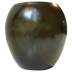 Art Deco Bronze Vase by Just Andersen, 1930s