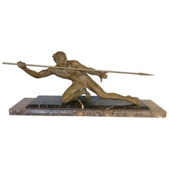 Art Deco Bronze Warrior by Pierre Hugonnet