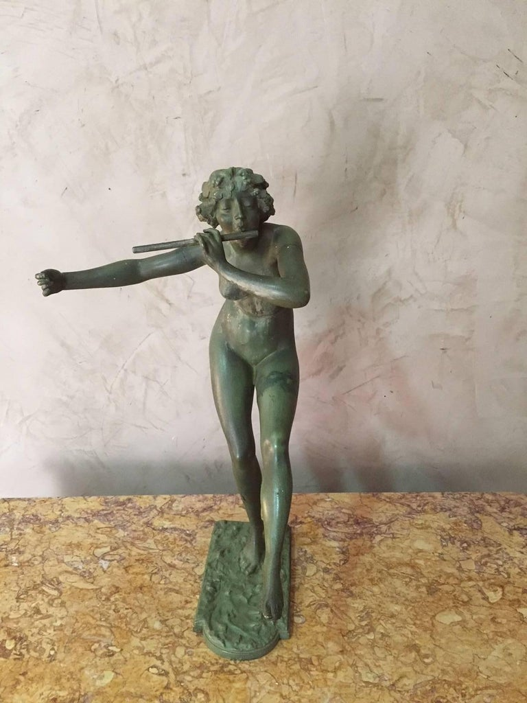 Art Deco Bronze with Patina Signed by French Paul Philippe, 1900s For Sale 3
