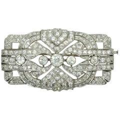 Art Deco Brooch & Pendant Platinum 950 with Diamonds 11.0 Carat, Vienna, c. 1920