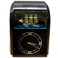 Art Deco Brown Vitascope Elecrtric Clock