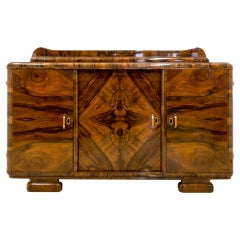 Art Deco Buffet in Walnut Veneer, Poland, 20th Century