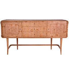 Art Deco Buffet Sideboard in Quilted Maple