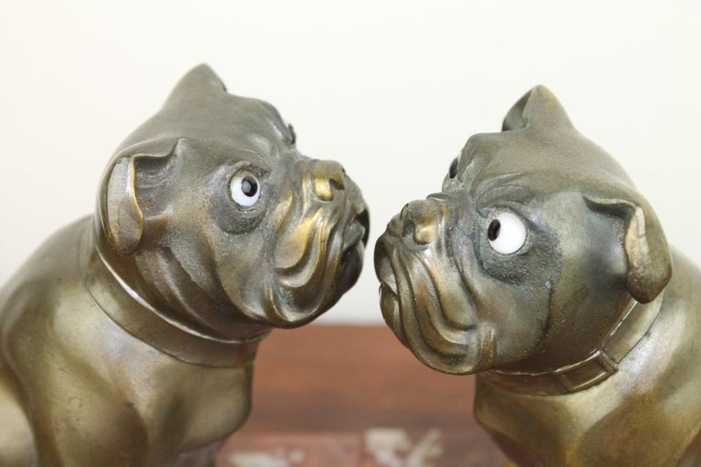 Art Deco Bulldog Bookends by Franjou, France For Sale 11