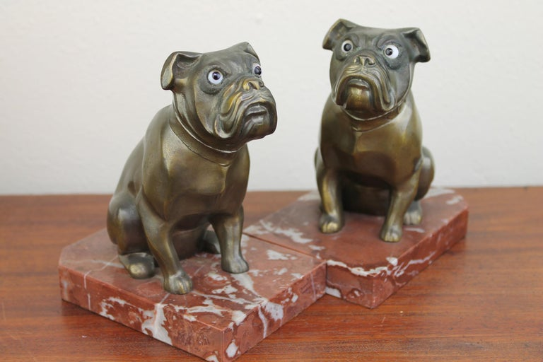 Art Deco Bulldog Bookends by Franjou, France For Sale 12