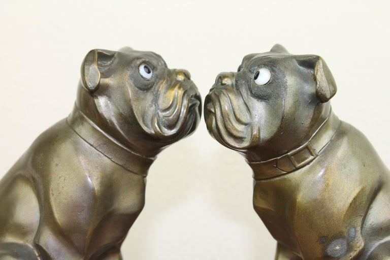 Art Deco Bulldog Bookends by Franjou, France In Good Condition For Sale In Antwerp, BE