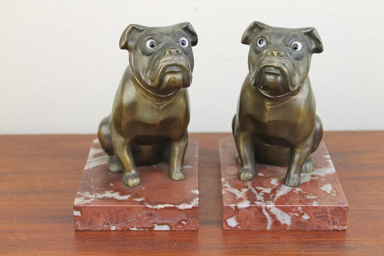 Art Deco Bulldog Bookends by Franjou, France For Sale 2