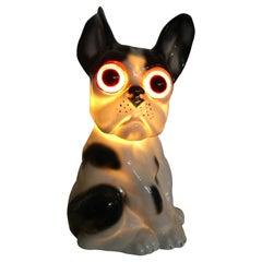Art Deco Bulldog Perfume Lamp, 1930s