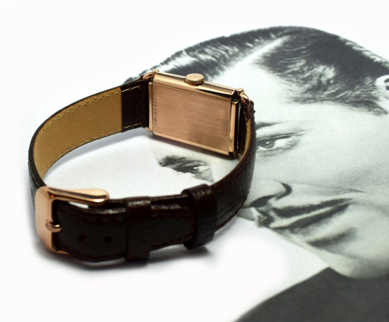 Art Deco Bulova WW2 14 Karat Gold, 21 Jewels, Gents Wrist Watch, Newly Serviced For Sale 7