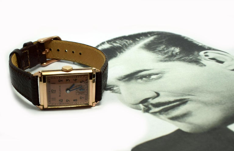 Art Deco Bulova WW2 14 Karat Gold, 21 Jewels, Gents Wrist Watch, Newly Serviced For Sale 12
