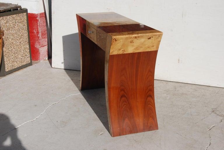 Art Deco Burl Console Credenza In Good Condition For Sale In Pasadena, TX