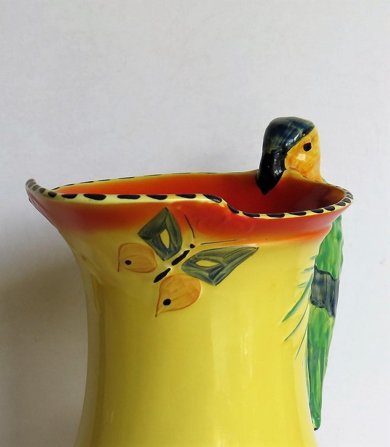 Art Deco Burleigh Ware Pottery Jug Or Pitcher Parrot