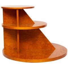Art Deco Burr Elm 3-Tier Table by Hille