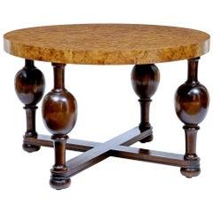 Art Deco Burr Elm Coffee Table